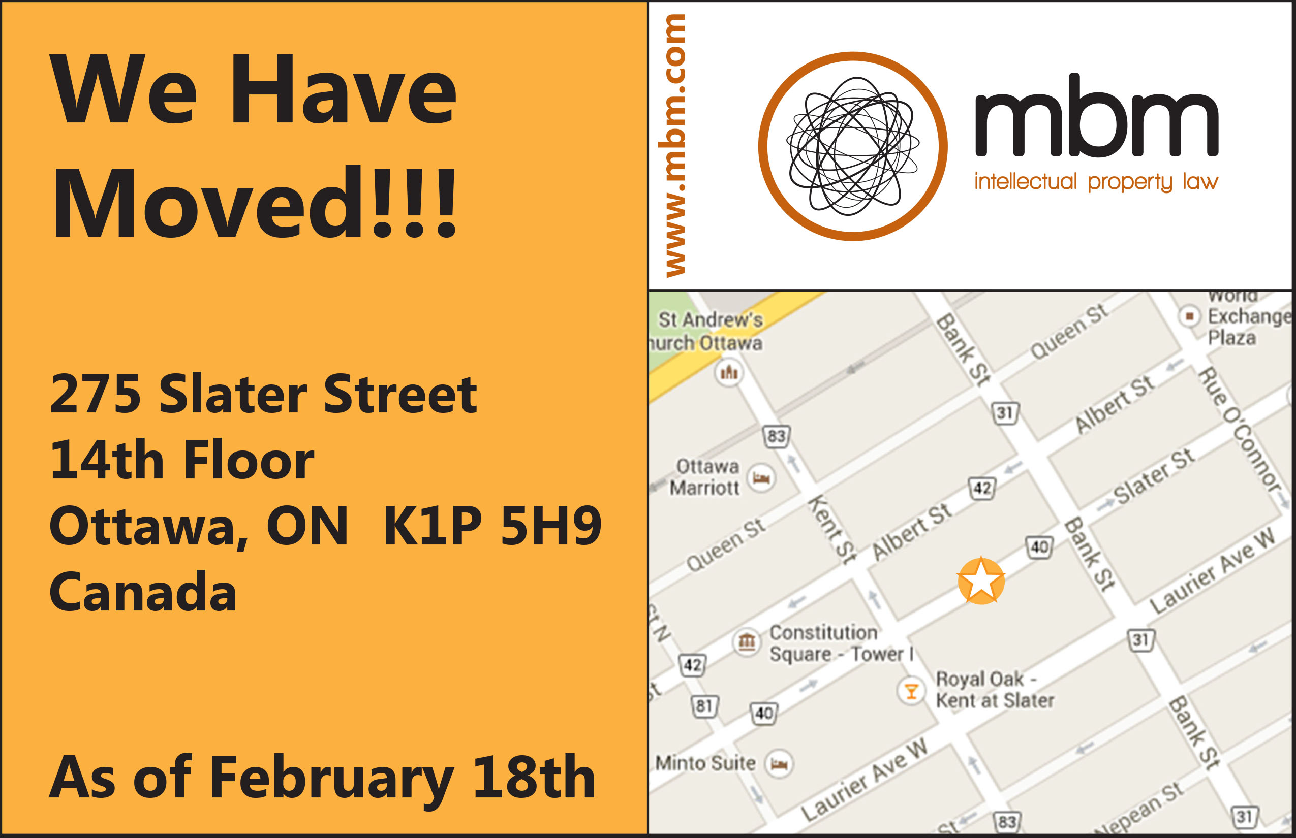 MBM Is Moving - Postcard